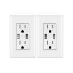 The Best USB Wall Outlet Option: micmi Wall Charger Dual High Speed Duplex Receptacle