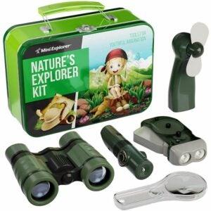 儿童选择最好的双筒望远镜: Mini Explorer Explorer Kit for Kids