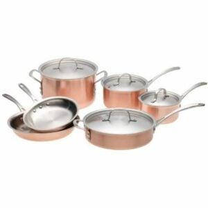 The Best Copper Cookware Option: Calphalon Tri-Ply Copper 10 Piece Set