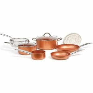 The Best Copper Cookware Option: Copper Chef Cookware 9-Pc. Round Pan Set