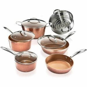 The Best Copper Cookware Option: Gotham Steel Hammered Collection - 10 Piece