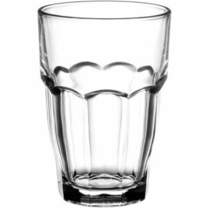 The Best Drinking Glasses Option: Bormioli Rocco Rock Bar 16-1/4-Oz Stackable Glasses