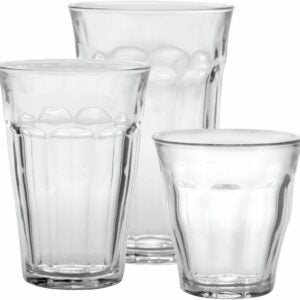 The Best Drinking Glasses Option: Duralex Picardie 18-Piece Clear Drinking Glasses