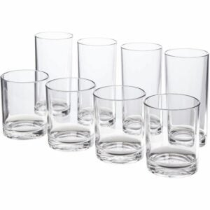The Best Drinking Glasses Option: US Acrylic Classic 8-piece Premium Quality Tumblers