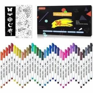 最好的面料标记选项:36种颜色织物标记,班车艺术织物标记