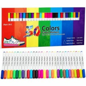 The Best Fabric Markers Option: Aen Art Fabric Markers Pen 30 Colors Permanent Paint