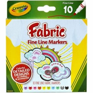 The Best Fabric Markers Option: Crayola Fabric Markers, At Home Crafts for Kids