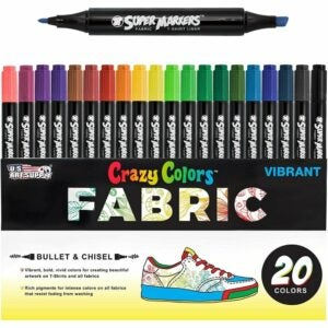 The Best Fabric Markers Option: US Art Supply Super Markers 20 Unique Colors Dual Tip