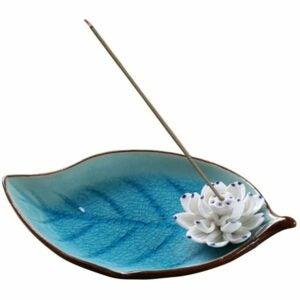 The Best Incense Option: Corciosy Ceramic Decorative Lotus Incense Burner