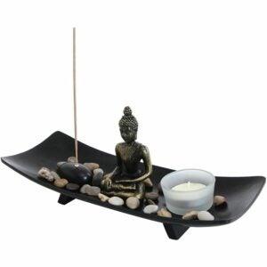 The Best Incense Option: MyGift Zen Garden Buddha Statue with Incense Holder