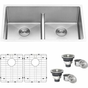 The Best Kitchen Sinks Option: Ruvati 32-inch Low-Divide Undermount Double Stainless