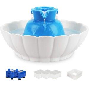 最佳猫用水喷泉选项:Ipettie Trains陶瓷宠物饮用喷泉