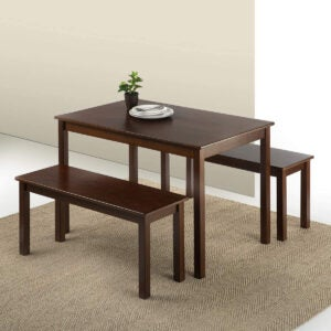 Best Dining Room Tables Options: Zinus Juliet Espresso Wood Dining Table