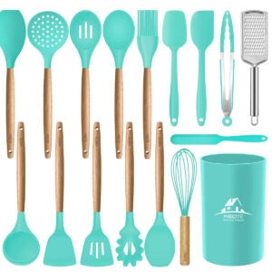 Best Kitchen Utensil Set Options: Mibote 17 Pcs Silicone Cooking Kitchen Utensils Set