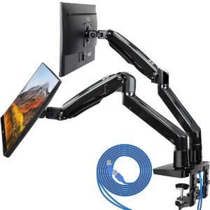 Best Monitor Arm Options: HUANUO Dual Monitor Mount Stand
