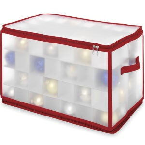 Best Ornament Storage Options: Whitmor Christmas Large Ornament Storage Zip Chest