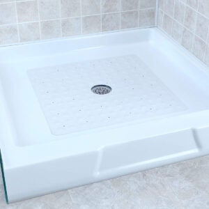 Best Shower Mat Options: SlipX Solutions White Square Rubber Safety Shower Mat