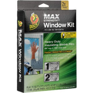 Best Window Insulation Kit Options: Duck MAX Strength Heavy Duty Insulating Film