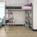 The Best Kids Bed With Desk Option: DHP Studio Loft Bunk Bed Over Desk with Metal Frame