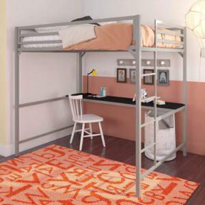 The Best Kids Loft Bed With Desk Option: DHP Miles Metal Full Loft Bed with Desk
