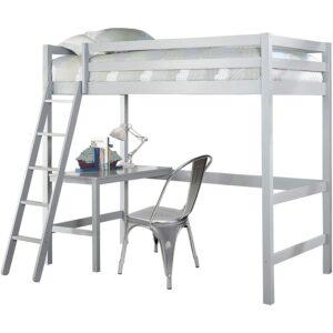 最好的孩子阁楼床配有办公桌选择:Hillsdale Furniture Caspian双床床