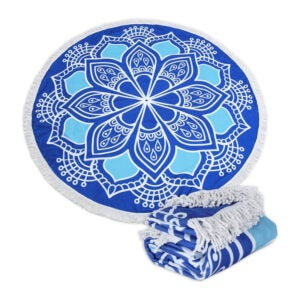 The Best Beach Towel Option: Polly House Large Round Picnic Mat Beach Blanket