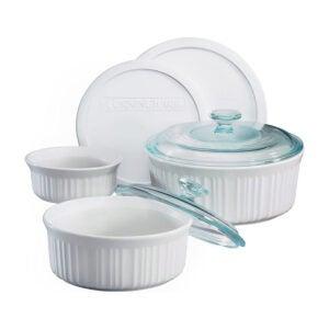 La meilleure option de plat de casserole: Ensemble de casseroles blanches françaises CorningWare