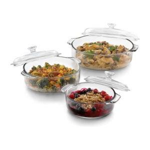La meilleure option de plat de casserole: Ensemble de 3 plats de casserole de Libbey Baker's Basics