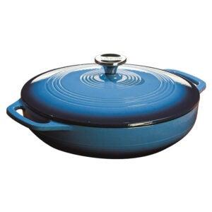La meilleure option de plat de casserole: Cocotte en fonte émaillée Lodge de 3,6 pintes