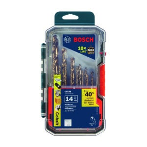 The Best Drill Bits for Stainless Steel Option: Bosch CO14B 14 Pc. Cobalt M42 Drill Bit Set