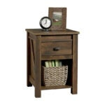 The Best Nightstand Option: Ameriwood Home Farmington Rustic Barn Pine Nightstand
