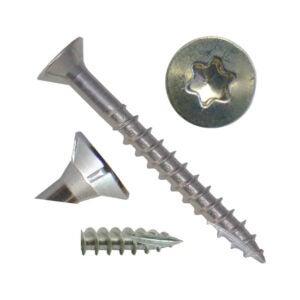 最好的木螺钉选项:#8 x 1-1 4银星不锈钢木螺钉