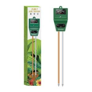 The Best pH Meter Option: Kensizer Soil Tester, 3-in-1 Moisture Light pH Meter