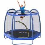 The Best Indoor Trampoline for Kids Option: Clevr 7ft Kids Trampoline with Safety Enclosure Net