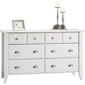 Best Dressers Options: Sauder Shoal Creek Dresser, Soft White finish