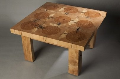 Sliced Beam Table by Wisnowski Design