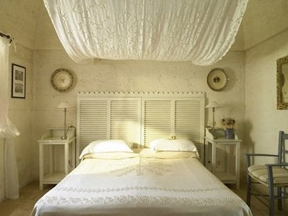 Repurpose Shutters - Headboard