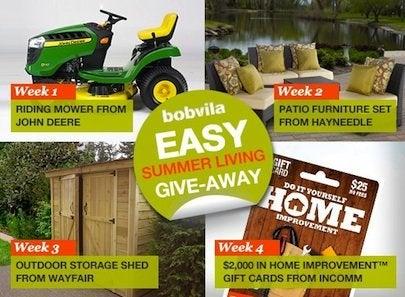 Bob Vila Easy Summer Living Give-Away All Prizes