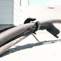 Replace Pipe Insulation - Before
