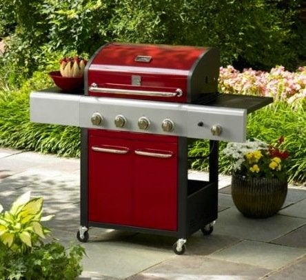 Sears Kenmore 4-Burner Gas Grill in Red for $239.99 (reg.
