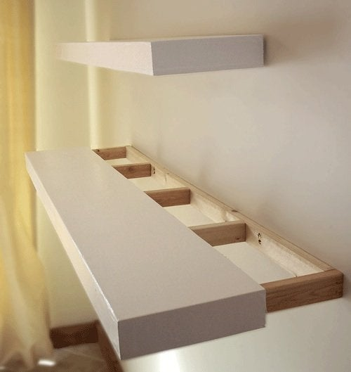 How To Install Floating Shelves Bob Vila Stunning How Are Floating Shelves Attached