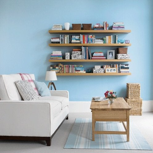 how to install floating shelves bob vila rh bobvila com shelves on concrete walls shelves on walls ideas