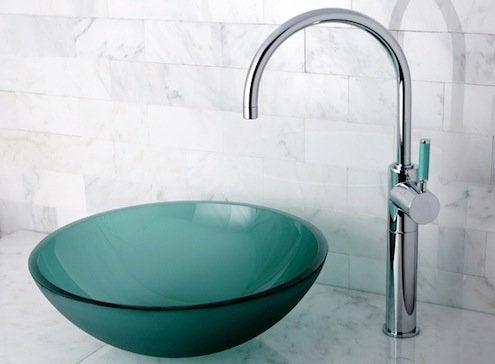Bathroom Sinks - Designer Glass Vessel Sink