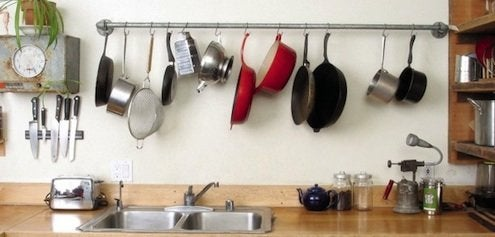 Creative Kitchen Storage   Galvanized Pipe Rack