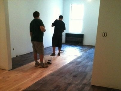 Wood Floors Go Gray - Applying Fumed