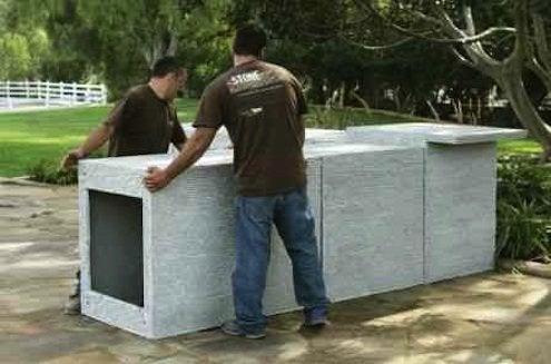 Rhodeislandstonewall Eldorado Stone Precast Outdoor Kitchen Units