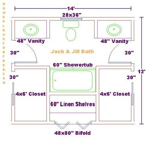 jack and jill bathrooms floor plans the benefits of a and bathroom bob vila 25576