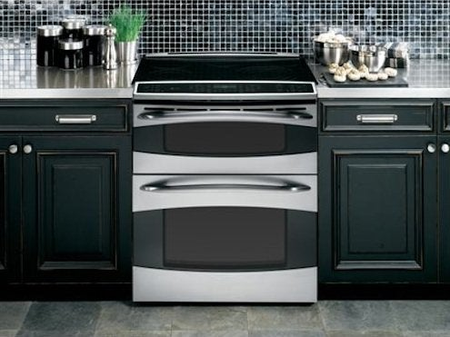 GE Profile Slide-In Double Oven Electric Range