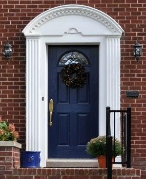 Choose A Door Dark Blue Front