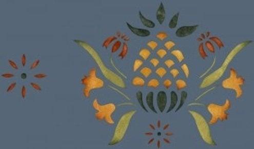 Pineapple Design Motif - Stencil